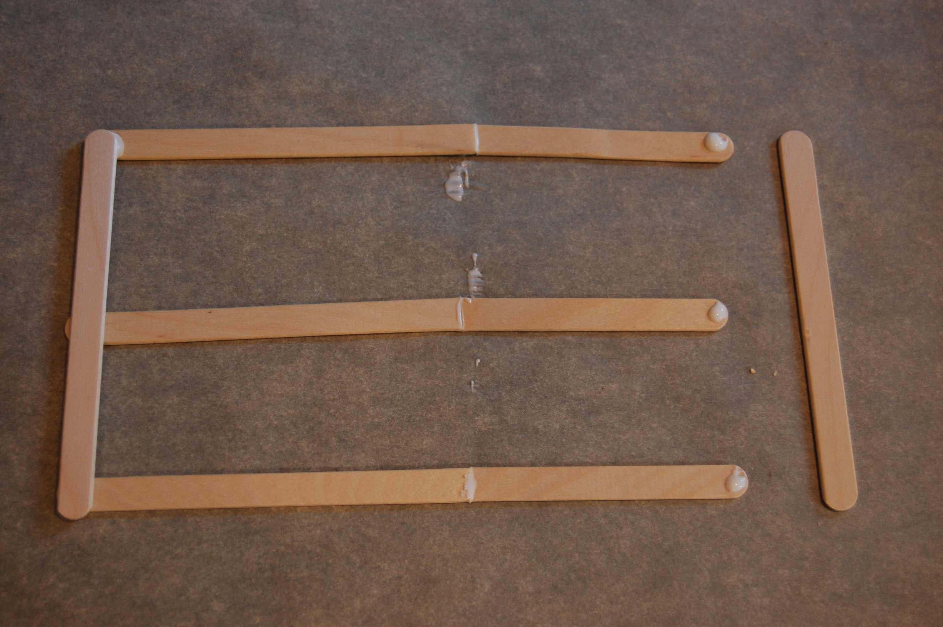 Popsicle stick ten frame tutorial mathematics and science in sd glue a popsicle stick directly over the joints of your long three glued together sticks this helps to reinforce and stabilize your ten frame jeuxipadfo Gallery